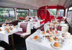 Afternoon Tea Bus Tour - afternoon tea on a double decker bus!