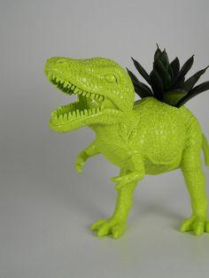 Rawr, t-rex plant stand