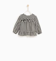 QUIMERSON: ZARA - KIDS - GINGHAM SHIRT WITH BOWS