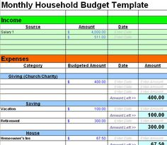 Free Excel Budget Worksheets Different Templates For Family