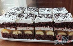 JAMAJKA řezy - fotopostup | NejRecept.cz Cake Cookies, Nutella, Tiramisu, Goodies, Food And Drink, Yummy Food, Sweets, Drinks, Ethnic Recipes