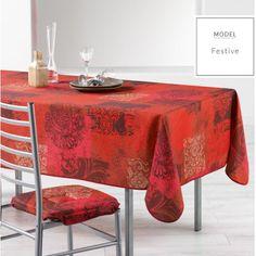Vánoční ubrus do kuchyně červené barvy Decoration, Table, Furniture, Polyester, Home Decor, Round Tablecloth, Oilcloth, Home Decoration, Flatware