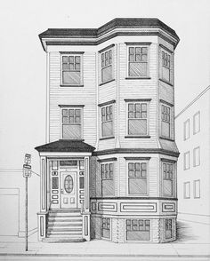Perspective Building Drawing, Perspective Drawing Lessons, Perspective Art, Interior Architecture Drawing, Architecture Drawing Sketchbooks, Architecture Concept Drawings, House Design Drawing, House Drawing, Arte Peculiar