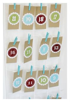Christmas Countdown-- I'll do mine a little differently, but the printable numbers as a start are awesome!