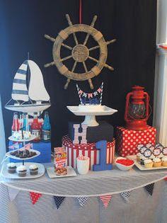 Diary of a Preppy Mom: Nautical First Birthday: Dessert Bar