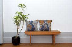 Partnership Garrido White X Histórias Por Metro Quadrado   Jacquard Knit cushions