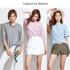 [GS SHOP] Lapiaf 코마코튼100 티셔츠 6종