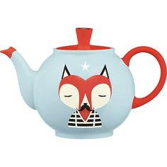 """""""I loved the idea of creating a character that would make you happy every time you reach for your teapot. Mr. Fox is also dignified, so he might want to join you for a spot of tea."""" Don't miss the surprise ending on the back."""