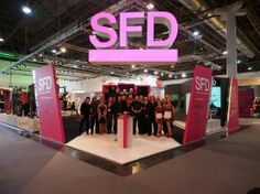 SFD family on their stand in the mannequin hall