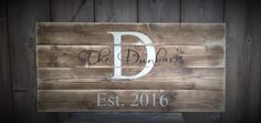 Guest Book Sign, Established Sign, The ___ last name Sign, Rustic Sign, Rustic Decor, Rustic Wedding, Sign with Initial & Date, rustic sign by SimplyMadeDesignsbyb on Etsy