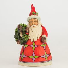 Mini Santa with Wreath