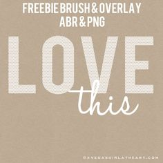 A Vegas Girl at Heart: Freebie Friday: LOVE this Photoshop brush & photo overlay