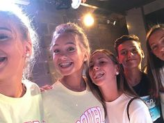 Lisa and Lena with fans at a meet&greet in Milan
