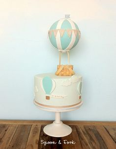 15 ideas for baby boy cake baptism hot air balloon Ballon iDeen ? Deco Baby Shower, Baby Shower Balloons, Baby Shower Cakes, Baby Shower Parties, Baby Boy Shower, Baby Boy Baptism, Baby Boy Birthday, Baby Boy Cakes, Cakes For Boys