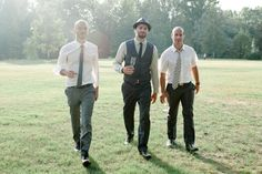 really love this groomsmen shot. looks relaxed and comfy without tuxes!