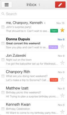The iOS Gmail App 2.0: Faster and Far More Beautiful. App. Google. Design. UI