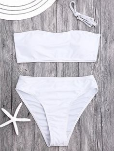 SHARE & Get it FREE | Padded High Cut Bandeau Bikini Set - White MFor Fashion Lovers only:80,000+ Items • New Arrivals Daily Join Zaful: Get YOUR $50 NOW!