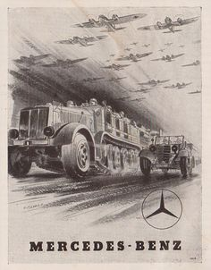 "Mercedes - Benz advertising/propaganda from magazine ""Böhmen und Mähren"", 1942"