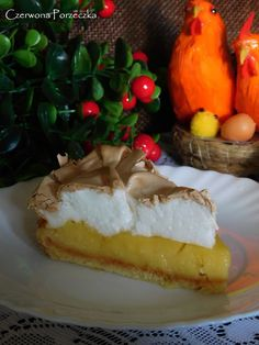Czerwona Porzeczka: Tarta cytrynowa z bezą Tart, Cheesecake, Food, Pie, Cheesecakes, Essen, Tarts, Meals, Torte