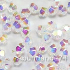 144 Pcs of Real Austria Swarovski 5328 Xilion Beads 4mm Crystal Clear AB2X Coat | eBay