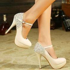 Womens Grace High Heel Stiletto Platform Pumps Party Wedding Shoes Court Shoes 9 in Clothing, Shoes & Accessories, Women's Shoes, Heels Prom Heels, High Heels Stilettos, Stiletto Heels, Shoes Heels, Strappy Shoes, Lace Shoes, Sparkly Heels, Silver Shoes, Strap Heels