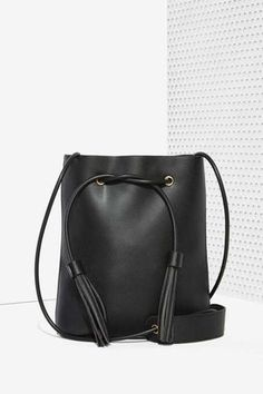 Factory Paradigm Vegan Leather Bucket Bag by NastyGal