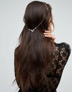 Limited Edition Occasion Draping Crystal Hair Back Chain