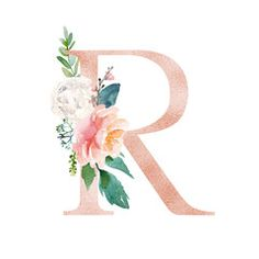 Floral alphabet blush peach color letter r with flowers bouquet composition unique collection for wedding invites decoration and many other concept ideas modern idea for wedding invitations transparent with grey paper and vintage flowers Alphabet Wallpaper, R Wallpaper, Floral Letters, Monogram Letters, Name Wall Art, Peach Colors, Nursery Art, Cute Wallpapers, Floral Prints