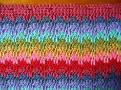 Raindrops Stitch Pattern and Cushion pattern