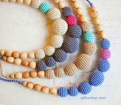 Beautiful crochted beads