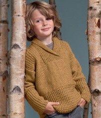 Breipakket jongens trui met gratis breipatronen van Phildar