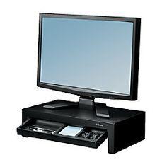 "Fellowes® Designer Suites Monitor Riser, 12.5""H x 5.13""W x 15.5""D, Black"