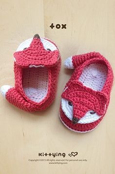 As if these baby booties aren't cute enough, they each have a little TAIL