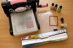 Technique #16: Alufolie prägen und färben (auch mit Acrylfarben möglich) - Schritt 1