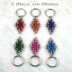 chain maille key chain