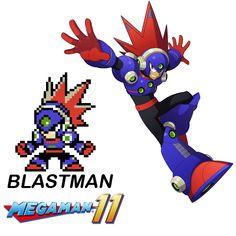 Megaman 11 - Blastman in 8 bits