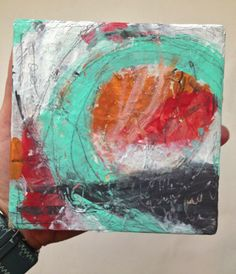 E Makes Art: New Mini Abstract Painting by Esther Orloff