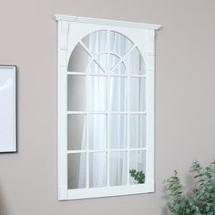 White Wall Mirrors, Window Mirror, Small Mirrors, Window Wall, Ornate Mirror, Vintage Mirrors, Wood Mantels, Wooden Windows, Light And Space