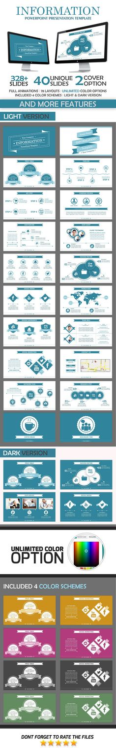 Information PowerPoint Template #powerpoint #powerpointtemplate Download: http://graphicriver.net/item/information-powerpoint-template/10507078?ref=ksioks