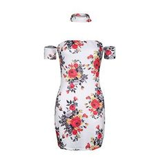 Summer floral print dress sexy off party mini dress