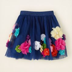 girl - 3D rosette skirt | Children's Clothing | Kids Clothes | The Children's Place