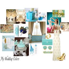 """Gold and Teal Tiffany's Color"