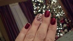 Candy Cane Christmas nails with OPI Halo glitter :)