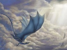 Saphira.  Reminds me of Charity's flight through the clouds - a scene from my novel 'Dreams, Destinies and Denials'.