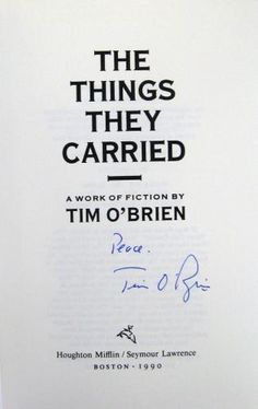 the vietnam conflict in tim obriens the things they carried For young people, the vietnam war is a thing of the past and they can only learn about it from second hand sources in tim o'brien's the things they carried, it becomes very apparent that the vietnam conflict has proved to be one that many of the participants have not been able move away from.
