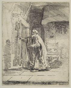 The Blindness of Tobit Rembrandt (Rembrandt van Rijn) (Dutch, Leiden 1606–1669 Amsterdam)
