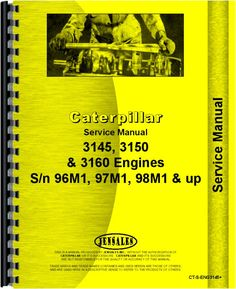 Caterpillar 3150 Engine Service Manual