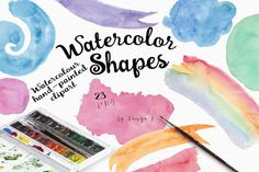 Watercolor Shapes Collection by Tanya Kart on @creativemarket