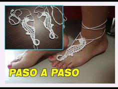 Bare Foot Sandals, Crochet Crafts, Doilies, Barefoot, Crochet Top, Crochet Necklace, Diy, Jewelry, Youtube