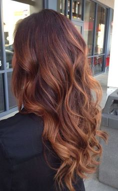17 super Ideas for hair color ideas for brunettes auburn hairstyles – Balayage Haare Balayage Auburn, Red Balayage Hair, Hair Highlights, Ombre Hair, Red Ombre, Copper Balayage Brunette, Copper Highlights On Brown Hair, Auburn Highlights, Bayalage